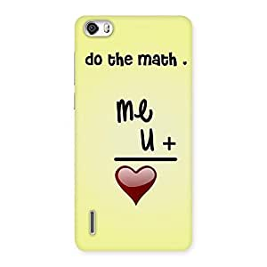 Love Maths Back Case Cover for Honor 6