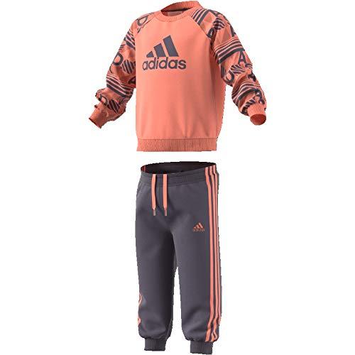 adidas (ADIIT) adidas Baby Printed Terry Jogginganzug Chalk s18/haze Coral/Trace Purple s18, 74