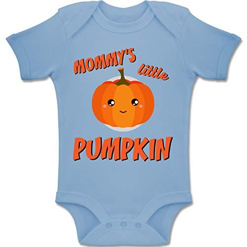 Anlässe Baby - Mommys Little Pumpkin Halloween - 6-12 Monate - Babyblau - BZ10 - Baby Body Kurzarm Jungen Mädchen