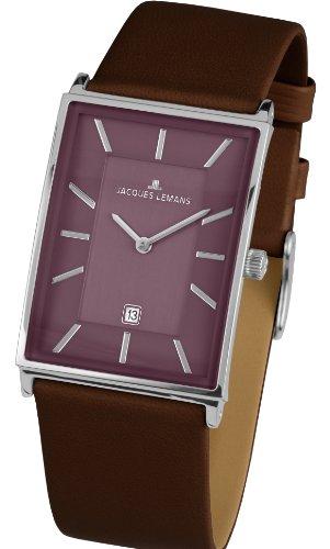 Jacques Lemans Herren-Armbanduhr York Analog Quarz Leder 1-1603G