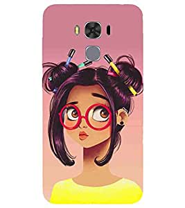 For Asus ZenFone 3S Max :: Asus Zenfone 3s Max ZC521TL :: ZenFone 3s Max (ZC521TL) :: Asus Zenfone Max 3S Cartoon, Black, Cartoon and Animation, Printed Designer Back Case Cover By CHAPLOOS