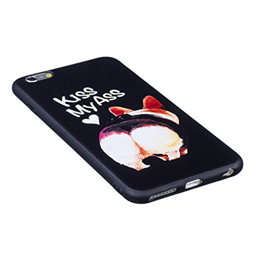iPhone 6 Plus / 6S Plus Hülle, SATURCASE Schönes Muster Bas-relief Ultra Dünn Weich TPU Gel Silikon Schützend Zurück Case Cover Handy Tasche Schutzhülle Handyhülle für Apple iPhone 6 Plus / 6S Plus (5 Muster-4