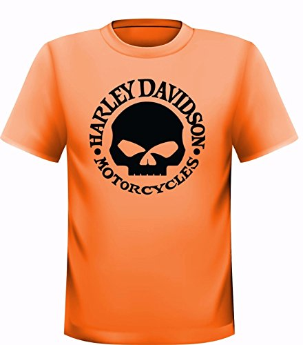 Davidson Skull T-shirt Harley (Harley Davidson Skull T-Shirt (XXL))
