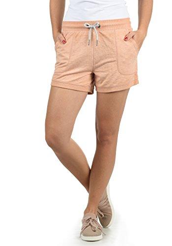DESIRES Bente Damen Sweatshorts Bermuda Shorts Kurze Hose Mit Melierung Und Kordel Regular Fit, Größe:XS, Farbe:Ma. Rose M (4203M)