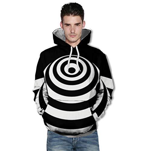 B-commerce Unisex 3D Hoodie Herren Damen Kapuzenpullover Langarm Drawstring Pullover Sweatshirt mit Tasche für Halloween, Kostüm, Party, Neuheit - Jim Jones Kostüm