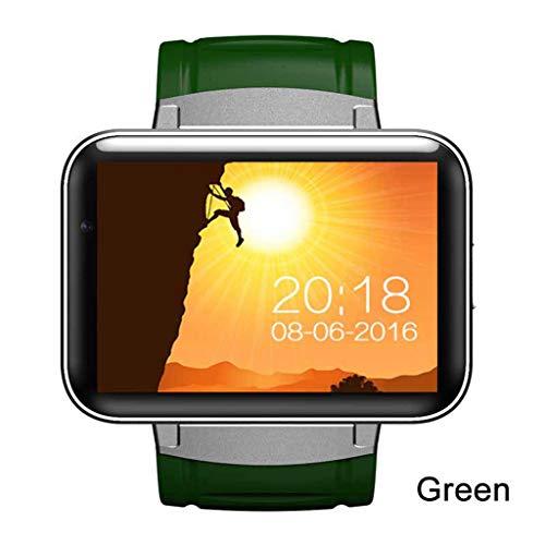 JingJingQi Fitness-TrackerDM98 GPS Smart Watch 2,2 Zoll Bildschirm MTK6572 900mAh Batterie Android OS 3G WCDMA WiFi Sport Tracker Smartwatch, grün