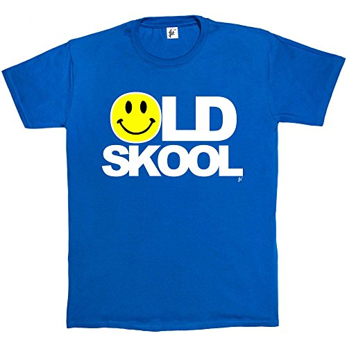 Old Skool Rave Acid House Smiley Face T-shirt in royal blue