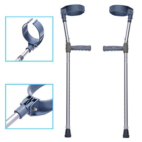 Dr.Lefran Erwachsene Unterarm-Krücken, höhenverstellbare Gehhilfe, Aluminium-Spazierstöcke im Freien,2Pcs