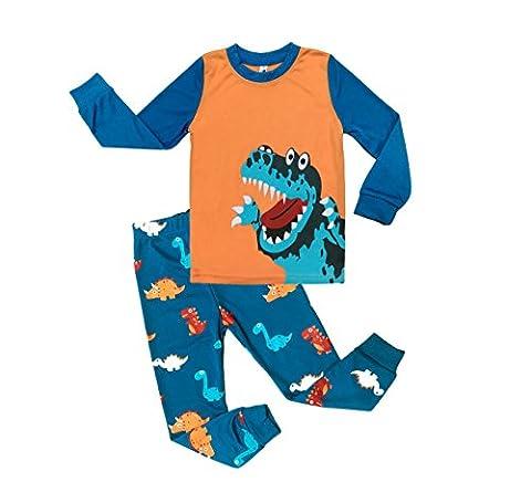 Little Sorrel Jungen Zweiteiliger Lange Schlafanzug Langarm Dinosaurier 3-7 Jahre Bekleidungsset