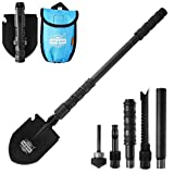 Dwayne C Military Portable Folding Shovel and Pickax with Tactical Waist Pack Surplus