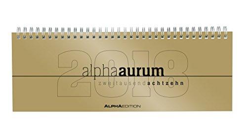 Tisch-Querkalender alpha aurum 2018