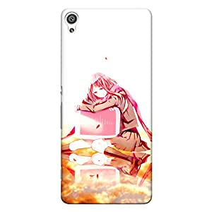 CrazyInk Premium 3D Back Cover for Sony Xperia XA - Sad Beautiful Anime Lady