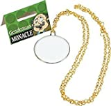Adult Fancy Dress Party Victorian Edwardian Gentleman's Monocle On Gold Chain