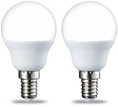 AmazonBasics LED E14 Small Edison Screw Golf Ball P45 Bulb, 5.5W (Equivalent to 40W)
