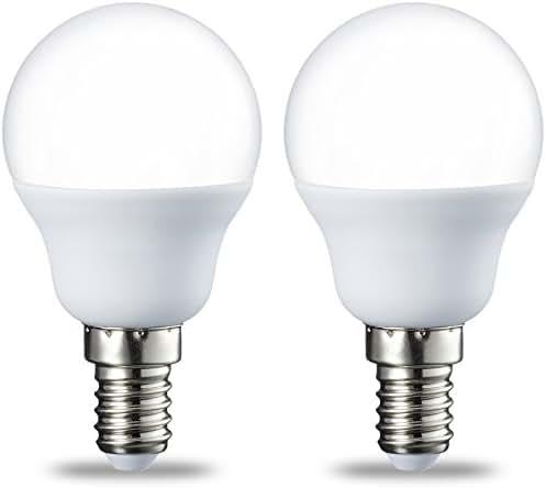 AmazonBasics Petite ampoule LED E14 P45 type globe, avec culot à vis, 5.5W (équivalent ampoule incandescente de 40W), blanc chaud -