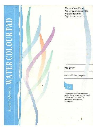 Aquarellpapier 12 Blatt 300 g Din 4