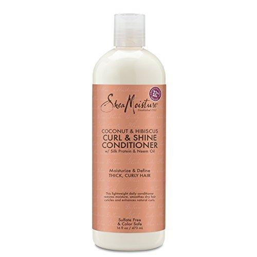 Shea Moisture Coconut & Hibiscus Curl & Shine Conditioner 437 ml - Shine Curl Conditioner