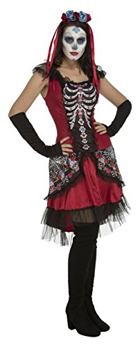 My Other Me Sugarskull Kostüm für Mädchen, M-L (viving Costumes ()