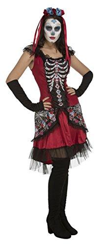 My Other Me-Sugarskull Kostüm für Mädchen, M-L (viving Costumes - Dia De Los Muertos Kostüm Mädchen