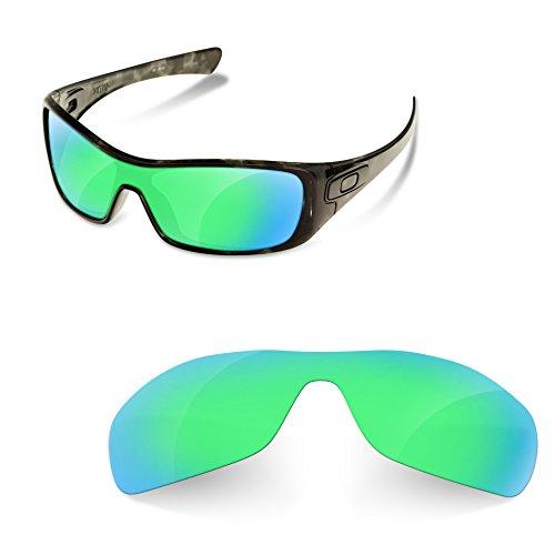sunglasses restorer Kompatibel Ersatzgläser für Oakley Antix, Polarisierte Sapphire Green Linsen