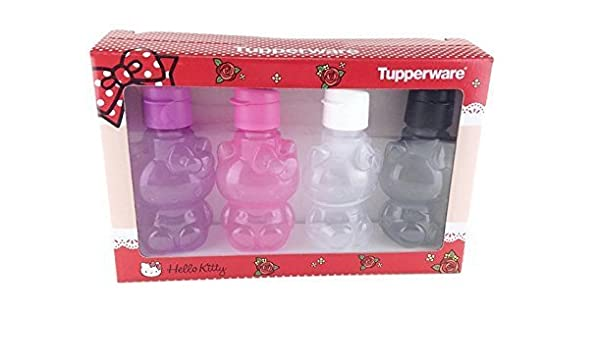 Tupperware Eco Easy 425 ml Trinkflasche Hello Kitty Flip Top Pink Rosa Neu OVP