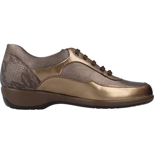 Lacets Pour Femmes, Couleur Or, Marque Mateo Miquel, Modèle Lacé Chaussures Pour Femmes Mateo Miquel 60z44 Or Doré