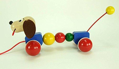 ABA ABA40003Lupo Nachzieh-Hund mit Bewegung (Aba Spielzeug)