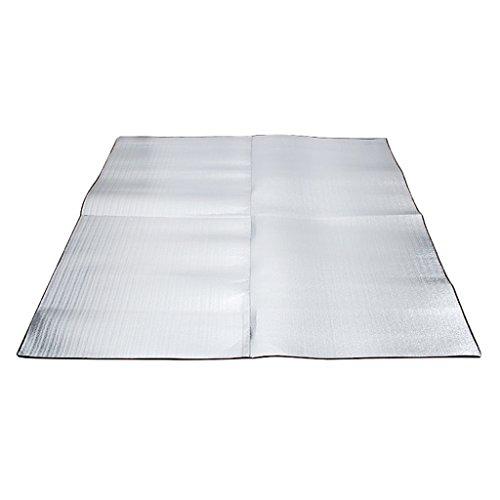 CUTICATE Aluminiumfolie Reisedecke Leicht Reisematte Freizeitdecke Zeltmatte Isomatte mit Aufbewahrungstasche, 2 Größe Auswahl - 200x200cm