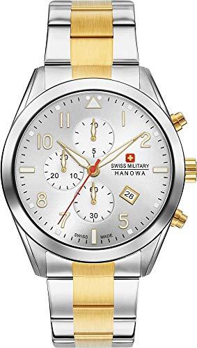 Swiss Military Hanowa Unisex Erwachsene Analog Quarz Uhr mit Edelstahl Armband 06-5316.55.001