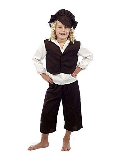 Kids Boy Viktorianischer Armen Orphan Oliver Twist Fancy Dress Book Week Kostüm - Oliver Twist Kostüm