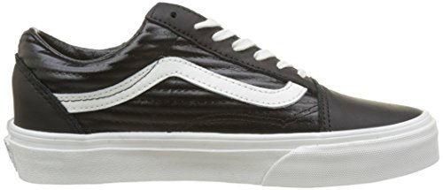 Vans Old Skool, Chaussures de Running Femme Noir (Black/blanc De Blancmoto Leather)