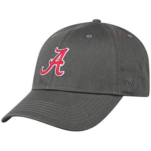 Top of the World Herren Mütze NCAA Fitted Charcoal Icon, Herren, NCAA Men's Fitted Hat Relaxed Fit Charcoal Icon, Alabama Crimson Tide Charcoal, Einstellbar