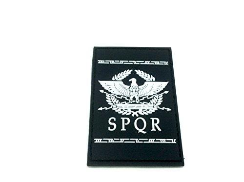 SPQR Antike Römische Republik PVC Airsoft Paintball Klett Emblem Abzeichen (Weiß)