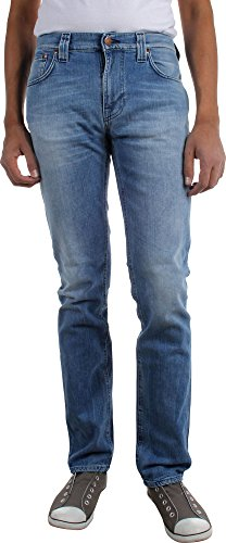 Nudie Jeans - - Thin Finn Skinny Jeans pour hommes Moody Blue