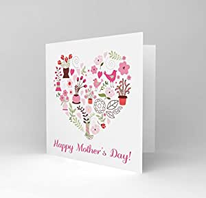 MOTHERS' DAY PRETTY PINK STUFF NEW ART GREETINGS GIFT CARD CS1548