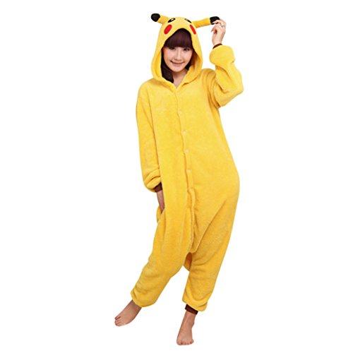 Keral Cosplay Kostüme Tierkostüme Erwachsene Pyjamas Kostüm Pyjamas Pikachu Größe (Günstige Tier Kostüme Halloween)