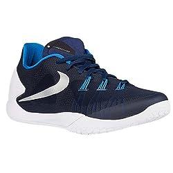Nike Men's Hyperchase Tb Basketball Shoe Nk749554 402 (Mid Navymtllc Slvrwhitepht B, 11.5 M Us)