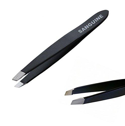 Sanguine Tweezers - Slant Tip - Stainless Steel (Black)