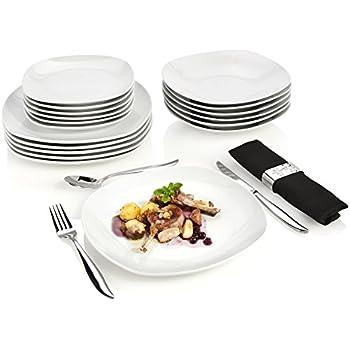 Modernes Geschirr Set sänger tafelservice bilgola aus porzellan 18 teilig tellerset