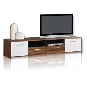 roller tv lowboard quadro walnuss k che haushalt. Black Bedroom Furniture Sets. Home Design Ideas
