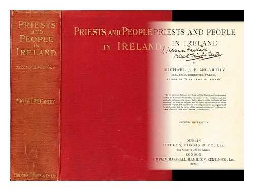 Priests and people in Ireland / by Michael J.F. McCarthy