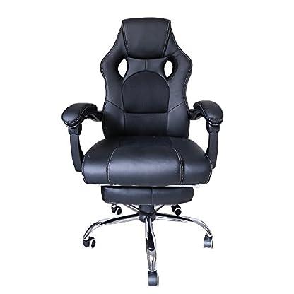 huigou HG® Silla Giratoria De Oficina Gaming Chair Apoyabrazos Acolchados Premium Comfort Silla Racing De Carga Altura Ajustable