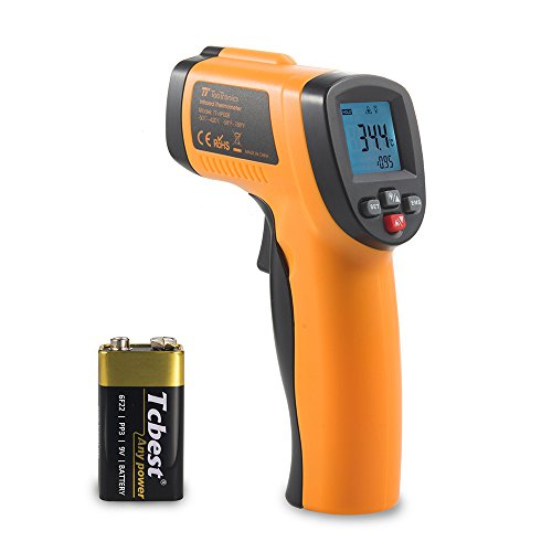 Termometro laser digitale taotronics misuratore ad infrarossi a pistola -50°c / -58°f a 420°c / 788°f per superfici oggetti (emissività regolabile, lettura temperatura in 0.5 secondi)