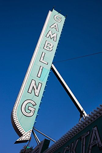 Panoramic Images – Low angle view of sign of El Cortez Hotel and Casino Fremont Street Las Vegas Nevada USA Photo Print (68,58 x 22,86 cm) (Fremont-street-casino)