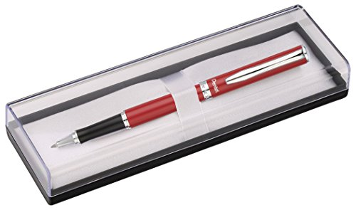 pentel-sterling-stylo-roller-a-encre-gel-non-retractable-rouge