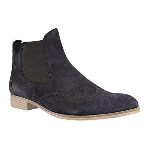 Gabor Damen Stiefeletten - Blau Schuhe in Übergrößen, Größe:46