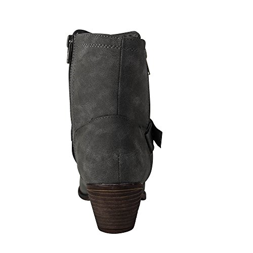 Damen Stiefeletten Stiefel Boots Biker ST426 Grau