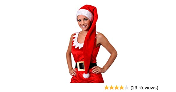 418606612cd6c LONG SANTA HAT CHRISTMAS LARGE DELUXE FANCY DRESS ACCESSORY STRIPED XMAS  FATHER CHRISTMAS HATS BULK WHOLESALE LADIES MENS HAT (PACK OF 1)   Amazon.co.uk  ...