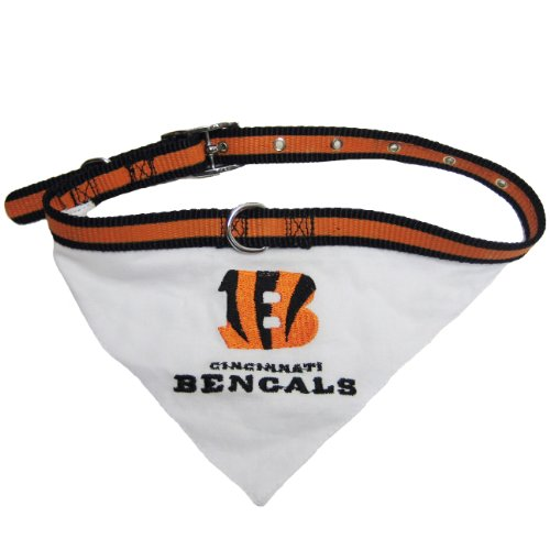 Mirage NFL Cincinnati Bengals Hundehalsband Bandana (Bandana Nfl Pet)