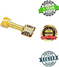 stealkart Hybrid Dual SIM Card and Micro SD Card Adapter (Gold)